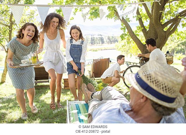 Family enjoying the outdoors together