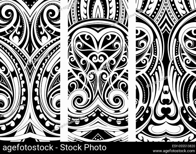 Maori style ornament set. Can be used as web design theme