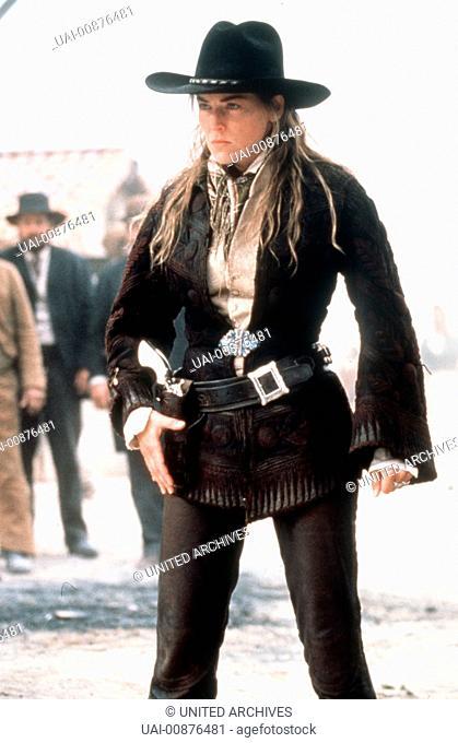 SCHNELLER ALS DER TOD The Quick and the Dead USA 1995 - Sam Raimi Ellen(SHARON STONE) mußte als kleines Mädchen erleben, wie ihr Vater von einem brutalen Bonzen...