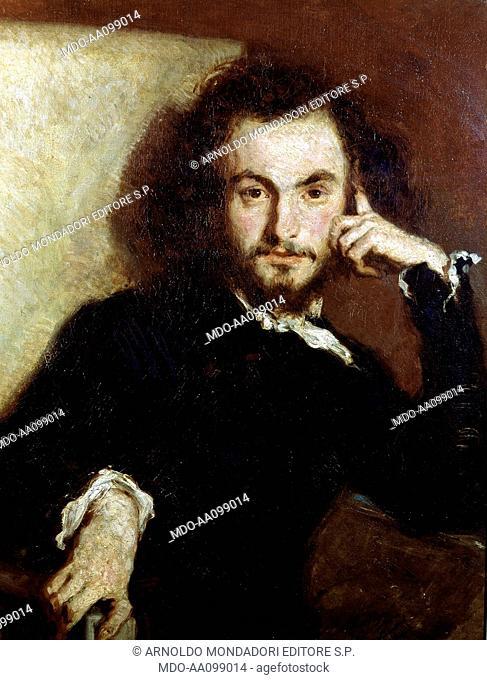 Portrait of Charles Baudelaire (Portrait de Charles Baudelaire), by Emile Deroy, 1844, 19th Century, oil on canvas