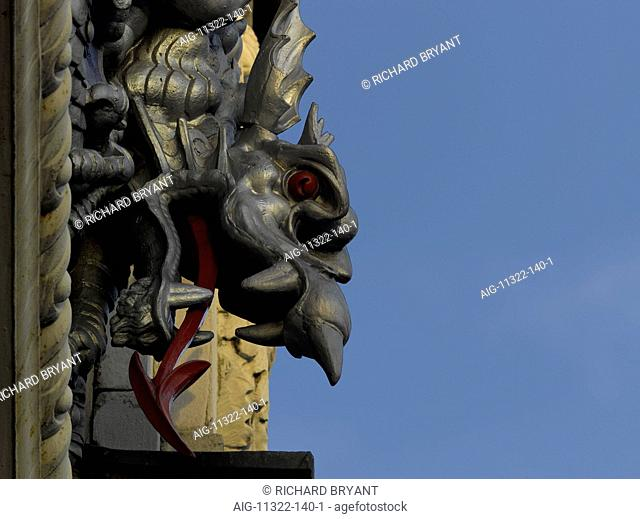 Dragon gargoyle, Smithfield Market, City of London, London
