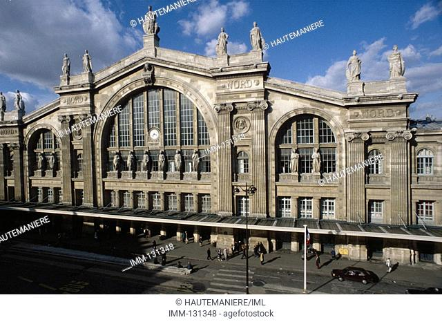 Paris, a Detailed View Gare du Nord 1867 train station by Hittorf, Napoleon III square