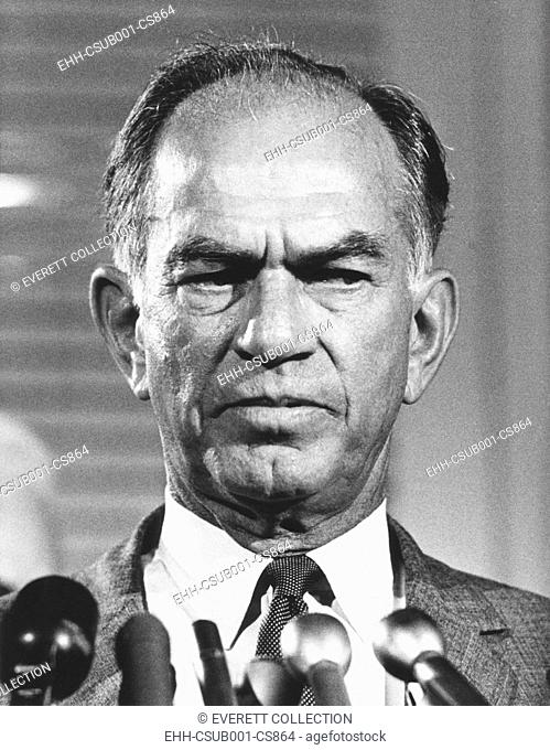 Sen. J. William Fulbright, five term Senator from Arkansas from 1945-1974. The independent thinking Senator opposed McCarthyism before it was fashionable and...