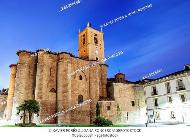 St. James way; Monastery of Santa Maria la Real in Najera, La Rioja, Spain