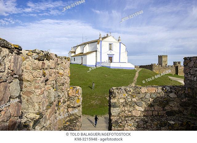 iglesia del Salvador, castillo medieval, Arraiolos, Distrito de Évora, Alentejo , Portugal