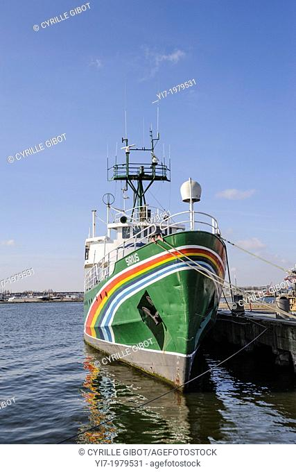 Greenpeace's boat Sirius, Amsterdam, the Netherlands