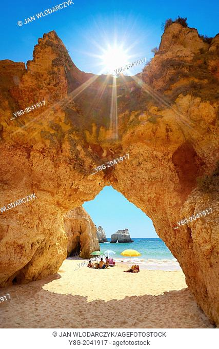 Prainha Beach near Alvor, Algarve, Portugal