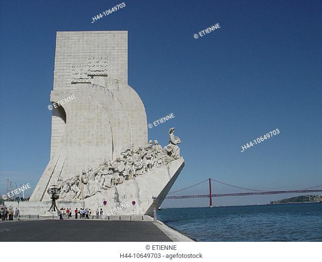 10649703, Belem, bridge, monument, suspension bridge, coast, Lisbon, sea, Padrao dos Descobrimentos, Portugal, Tejo
