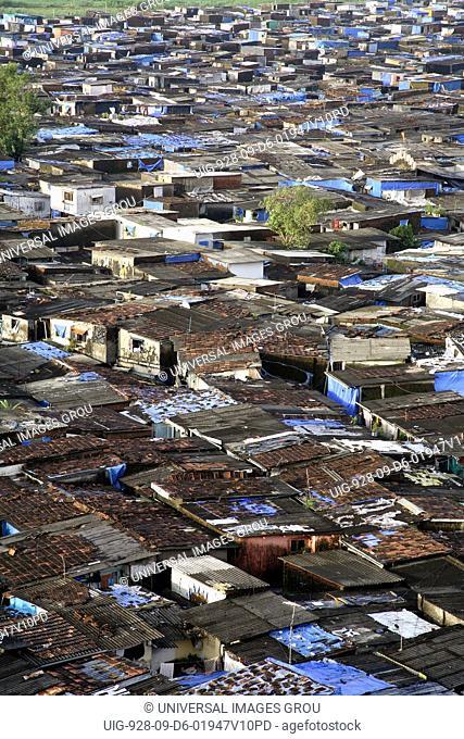 Slum Area Near Santacruz Airport, Vakola, Bombay Mumbai, Maharashtra, India