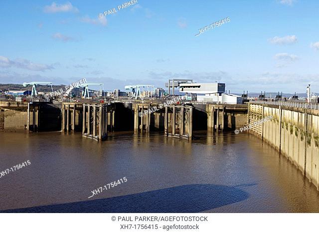 Cardiff Barrage, Cardiff Bay, Wales, UK
