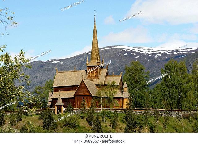 Lom Stave churchin Norway