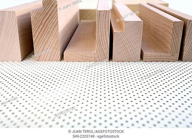 Texture of wooden strips