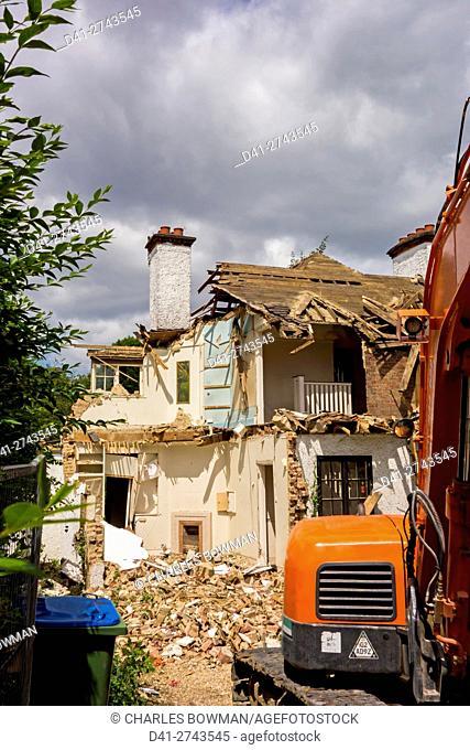 construction site digger demolition