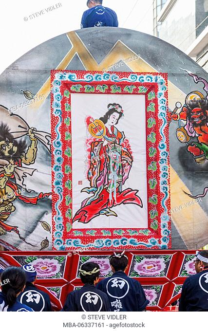 Japan, Hoshu, Tokyo, Asakusa, Nebuta Festival, Parade Float