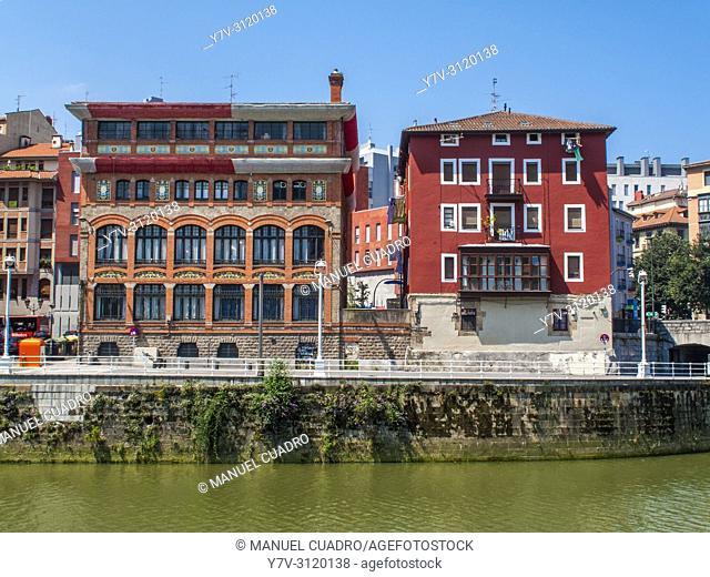 Muelle de Urazurrutia, Bilbao la Vieja, Bilbao, Biscay, Basque Country, Spain