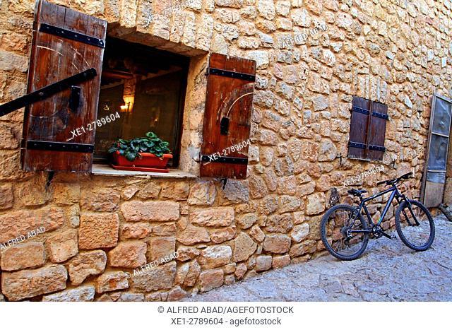 Bicycle, Siurana, Tarragona, Catalonia, Spain