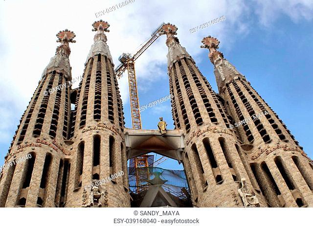 architectual work on la Sacra Familia in Barcelona/Spain