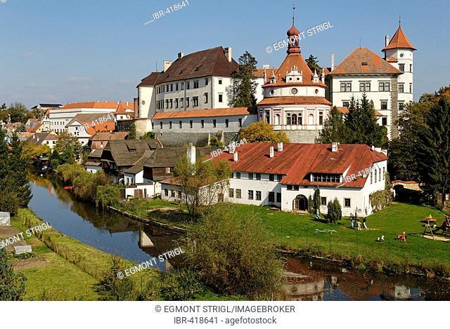 Historic old town of Jindrichuv Hradec, Neuhaus, south Bohemia, Czech Republic