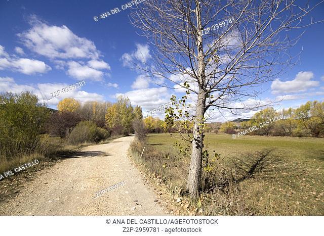 Autumn country Alcala de la Selva Teruel, Aragon, Spain