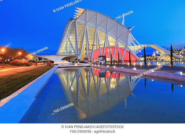 Principe Felipe Science Museum, City of Arts and Sciences, Valencia, Spain