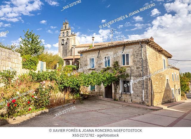 Church in Rubena in the Way of St. James, Burgos, Spain