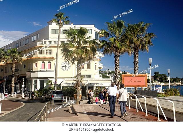 Street scene, Juan Les Pins, Cote d'Azur, France