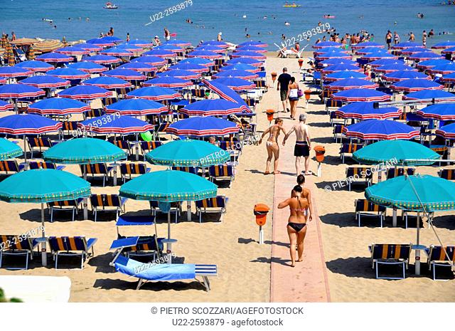 Italy, Emilia Romagna, Cattolica, the beach