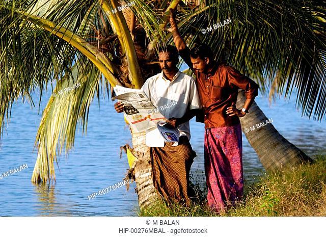 KERALA WAKES UP WITH NEWSPAPERS, EDUCATED RURAL FOLK, KUMBALANGHI