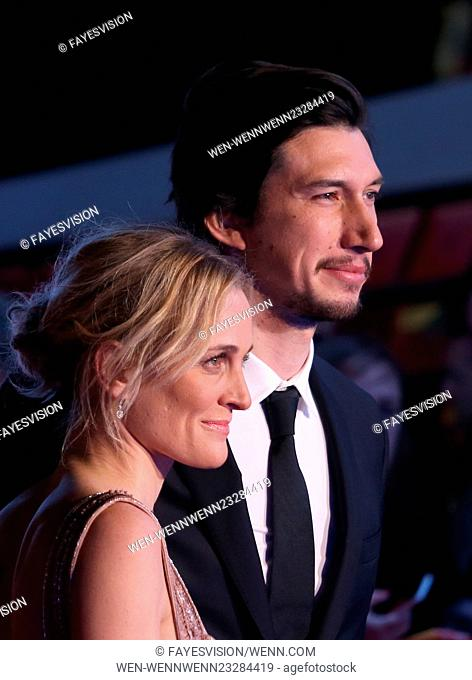 "Premiere Of Walt Disney Pictures And Lucasfilm's """"Star Wars: The Force Awakens"""" Featuring: Adam Driver, Joanne Tucker Where: Hollywood, California"