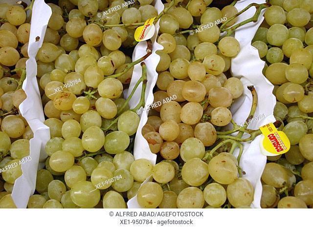 White grape bunches