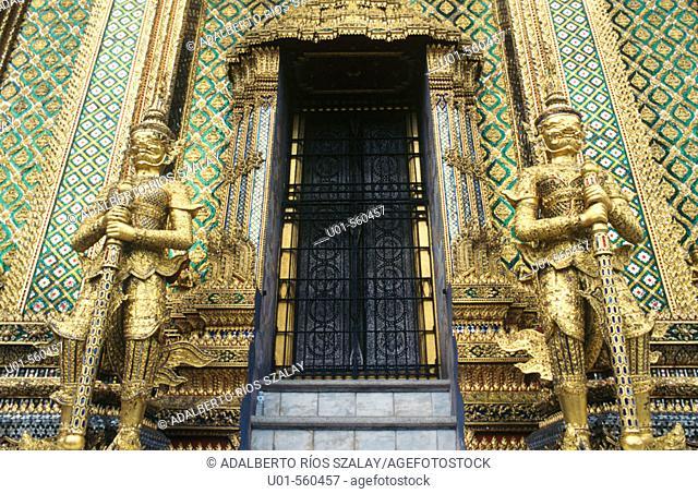 Wat Phra Keo mytological demons Royal Palace. Bangkok. Thailand