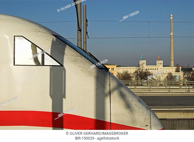 ICE express train, central train station, Berlin, Germany