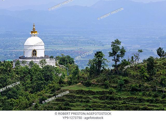 The World Peace Pagoda, Pokhara, Nepal