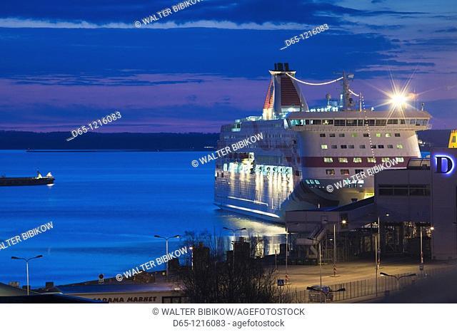 Estonia, Tallinn, Passenger Port, international ferry, dawn