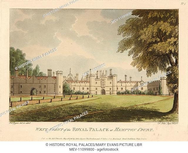A view of the West Front of Hampton Court Palace