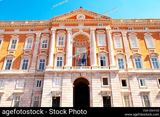 Main Entrance of Reggia di Caserta opened to public after the lockdown due Covid-19 emergency, Royal Palace of Caserta, one of the largest royal residences in...