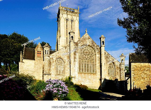 France, Finistere, Saint Herbot, late Gothic chapel of St Herbot