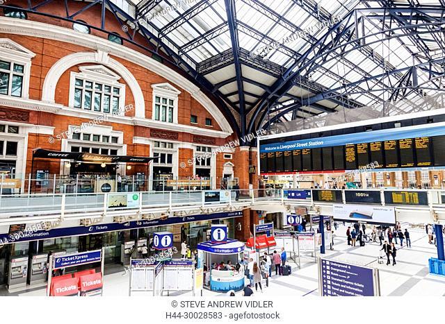 England, London, The City, Liverpool Street Station