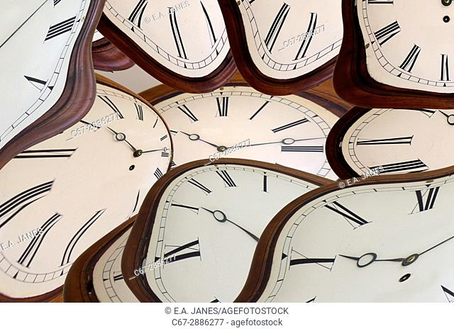 Time concept with clock face