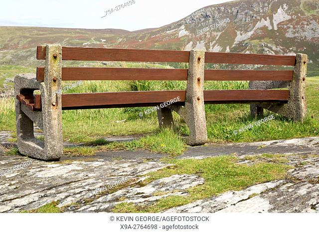 Bench in Glencolumbkille; Donegal; Ireland