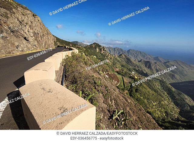 Scenic view of Anaga mountains, Tenerife, Canary islands, Spain