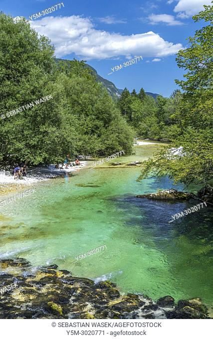 Savica River, Lake Bohinj, Triglav National Park, Ukanc, Upper Carniola, Slovenia, Europe