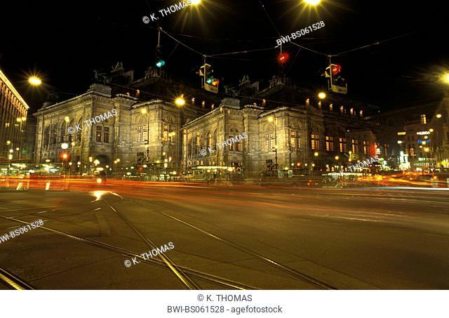 national opera of Vienna, double exposure, Austria, Vienna, 1. district, Vienna - opera