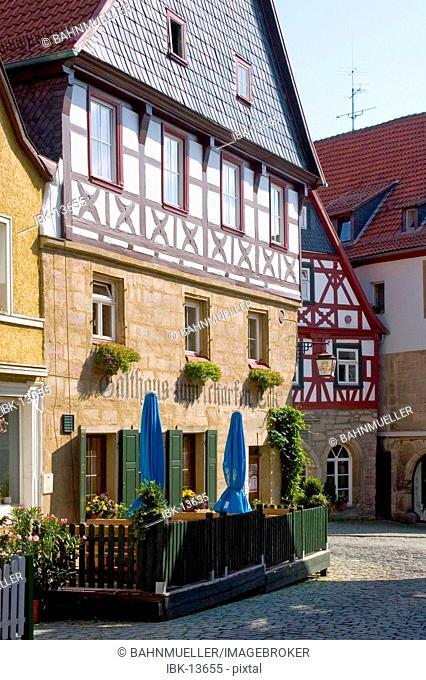 Kronach Upper Frankonia Bavaria Germany Lucas Cranach Street framework house