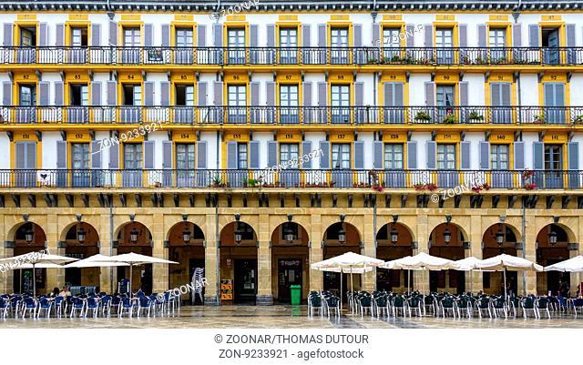 Building facade in San Sebastian, Spain