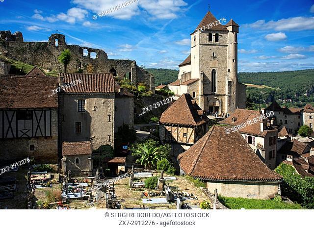 Church of Saint Cirq Lapopie, Midi Pyrénées, Lot, France