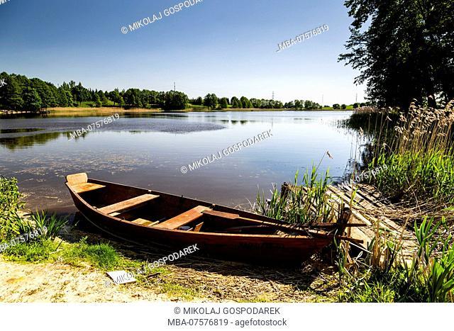 Europe, Poland, Podlaskie Voivodeship, Suvalkai Region, Punsk - Punia lake