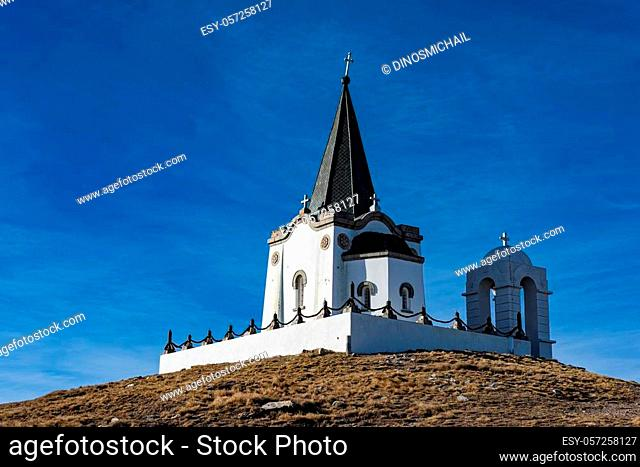 The Serbian chapel in memory of the victims of the Battle of Kaymakchalan in World War I on Mount Voras in Greece