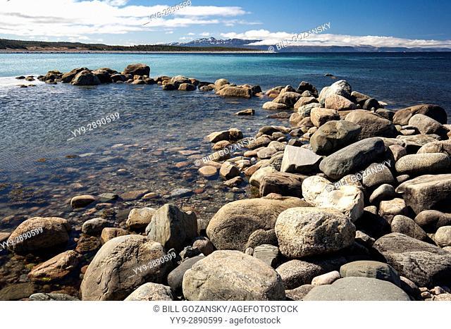 Rocky coastal landscape at Green Point, Gros Morne National Park, Newfoundland, Canada