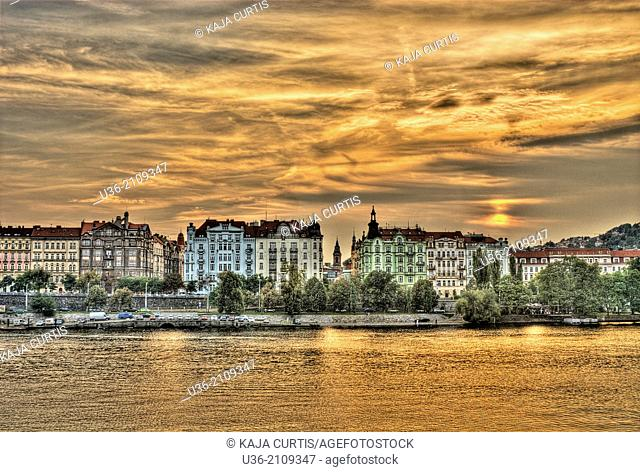 Along the Vltava River Prague Czech Republic